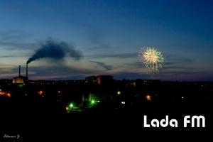 У Ладижині відгримів святковий феєрверк до Дня Перемоги