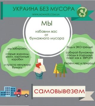 Українцям пропонують навчитися жити в чистоті і сортувати побутові відходи