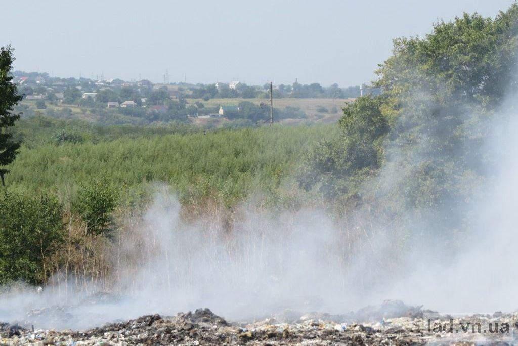 Пожар на свалке в Ладыжине: дым укутал ближайшие села, фото-2