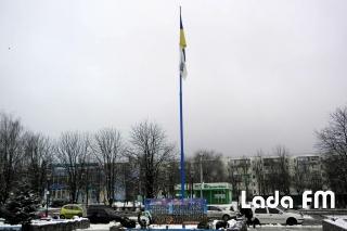 У Ладижині підняли прапор НОК України на період проведення зимових Олімпійських ігор у Південній Кореї