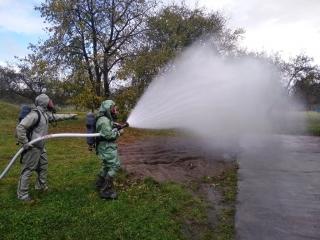 У Ладижині рятувальники ліквідовували наслідки витоку хлору