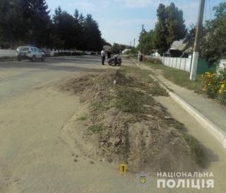 У Бершадському районі водій мотоцикла не впорався із кермуванням